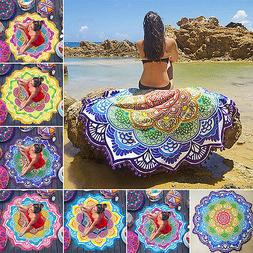 Indian Round Mandala Tapestry Wall Hanging Throw Towel Boho