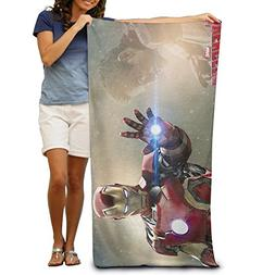 Adult Iron Man Absorbent Quick Dry Pool Bath Travel Beach To