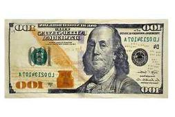 New issue of One Hundred dollar  Bill Print 100% pure Cotton