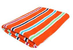 "Candy Stripe Terry Cotton Beach Towel, 32x64"", Soft Absorben"