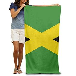 TRUSKC Jamaica Flag Custom Made 100% Polyester Soft Beach To