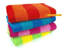 Kaufman Sales 4 Pc Pack Stripe Beach Towel by Ben Kaufman Sa