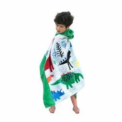 Bavilk Kids len Hooded Poncho Dinosaur Swim Beach Bath Towel