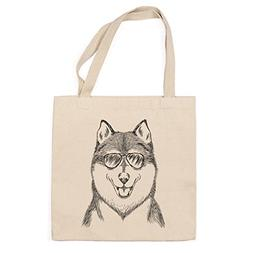 Koda the Husky Heavy Duty 100% Cotton Canvas Tote Shopping R