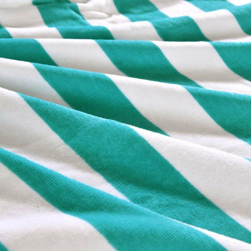 Exclusivo 100% Cabana Striped Turquoise And White