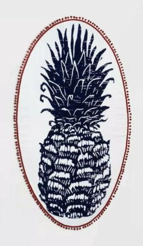 100% Cotton Large Pineapple Oval Beach Towel  Tropical Patte