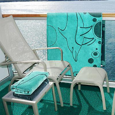 100% Dolphin Oversized Towel - Teal