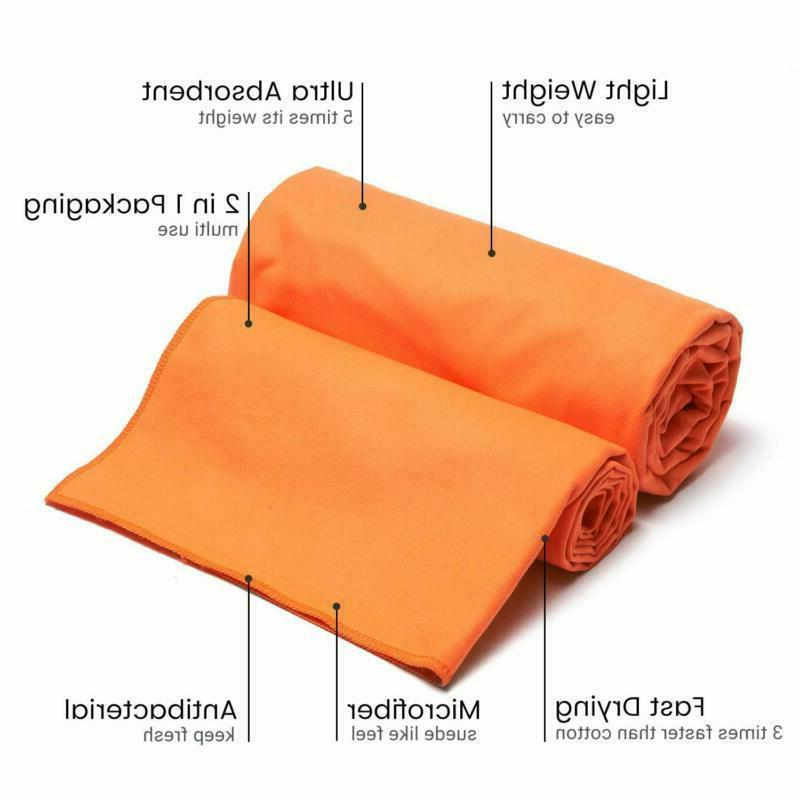 2 Pack Microfiber Towel Quick Dry Sports Gym Absorbent