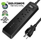 1250W 3 Outlet & 3 Smart USB Charging Port Surge Protector P