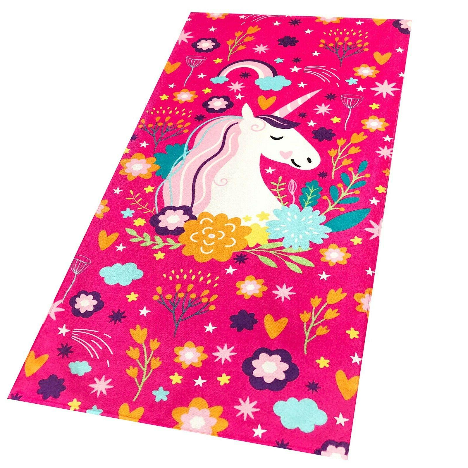 30 x60 fancy unicorn velour beach towel
