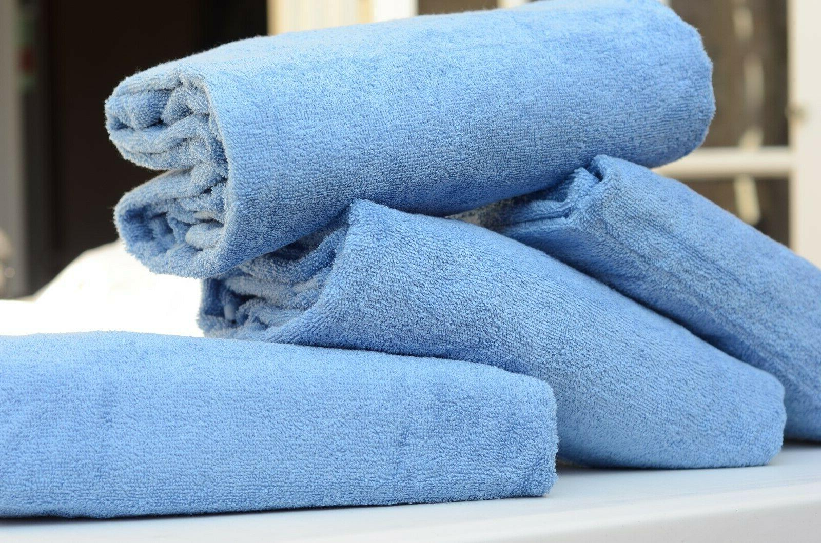 4-PACK 100% COTTON BEACH TOWELS 30x60 HOTEL QUALITY!