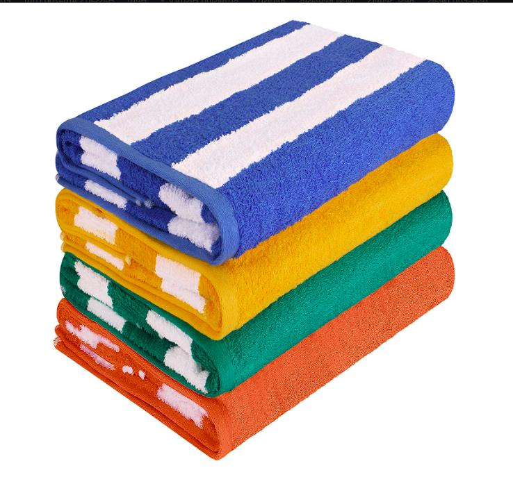 4 pack beach towel cabana stripe 30
