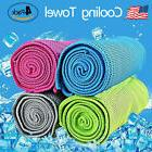 4 Pack Ice Cold Instant Cooling Towel Running Jogging Gym Ch