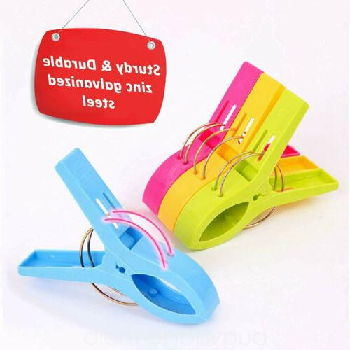 8 Towel Clips Plastic Sun Bed Lounger Holder Clips US