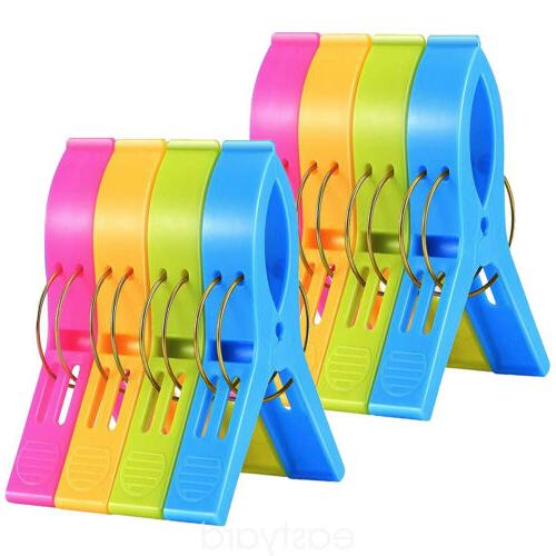 8Pcs Beach Chair Clips Large Lounger Clamps