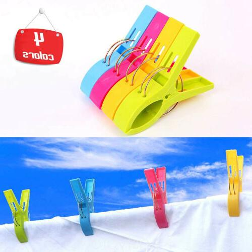 8Pcs Beach Chair Clips Lounger Holder Clamps