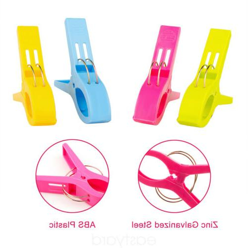 8Pcs Beach Clips Sunbed Lounger Holder Clamps