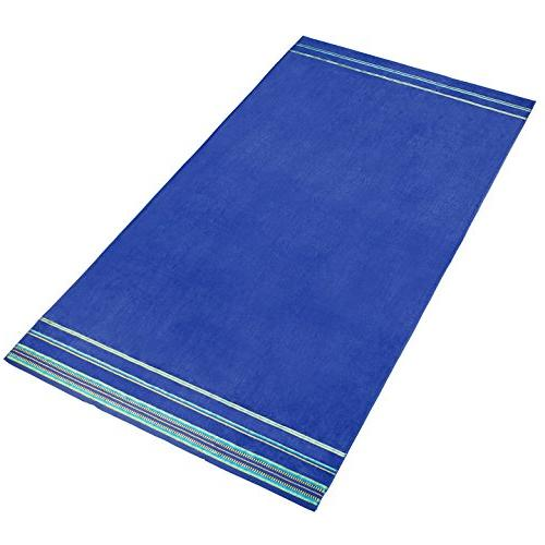 """Oversized 40"""" X Stripe Solid Velour and Pool of 2 Care, Large"""