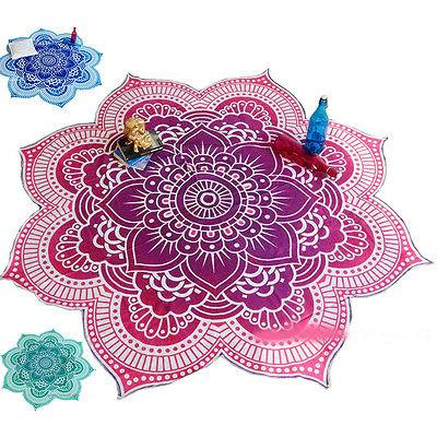 Mandala Indian Throw Boho Yoga Round