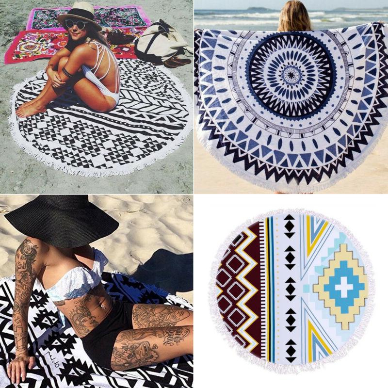 Boho Beach Throw Blanket Mat