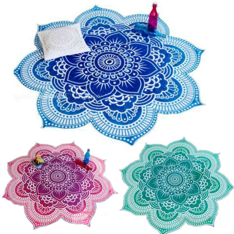 Boho Hippie Mandala Round Towel Tapestry Beach Throw Blanket Mat