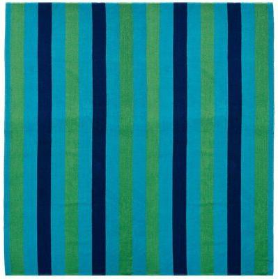 Cotton Craft - Beach Towel for Two 58x68 - Cabana Stripe Nav
