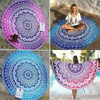 Round Mandala Hippie Bohemian Tapestry Beach Throw Towel Yog