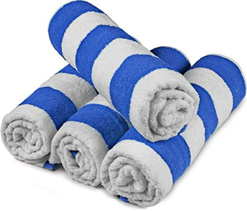 Utopia Towels Quality Cabana Beach Towels - Pack Stripe Multi Towels with High