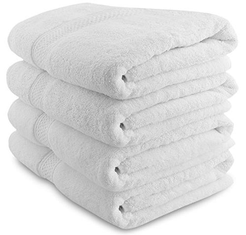 Utopia Towels Premium White Bath towels - Luxury Hotel and S