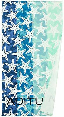 Nautica Adults Large Printed Absorbent Plush Velour 100% Cot