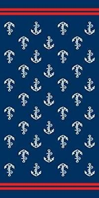 anchors brazilian velour beach towel 30x60 inches