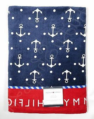 anchors red navy blue nautical pool beach