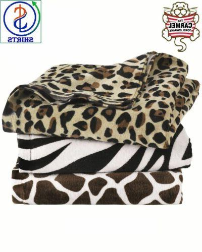 Carmel Towel Company - Animal Print Velour Beach Towel - C30