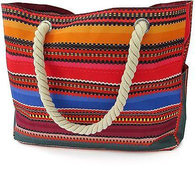 Baja Beach Bag Waterproof Canvas Tote - Large Shoulder Bag w