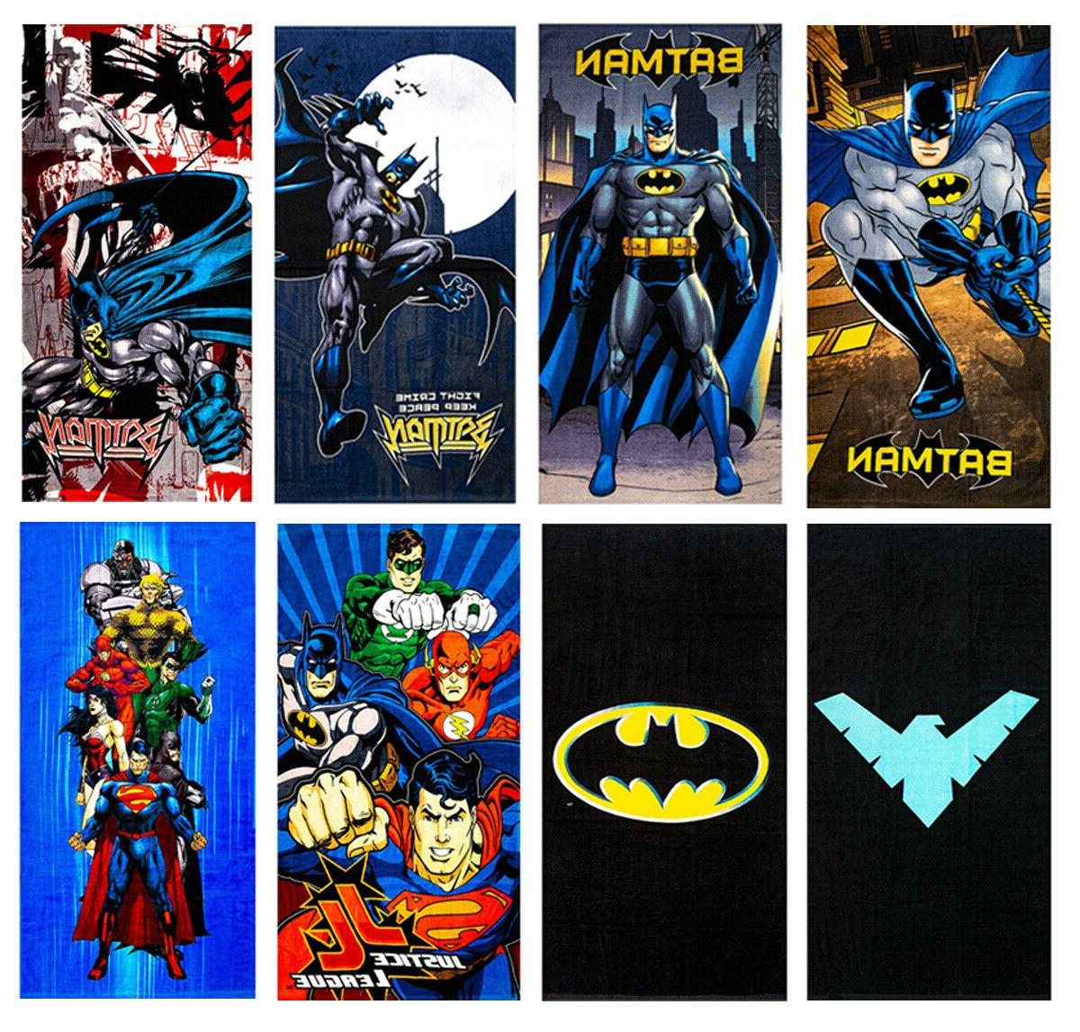 batman dc comics beach towel in 5