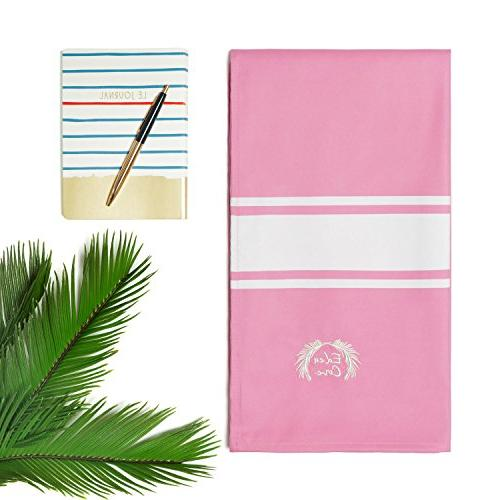 "Eden Microfiber Towel, Towel - 71x39"" in Pink Fast Absorbent - Travel, Swimming,"