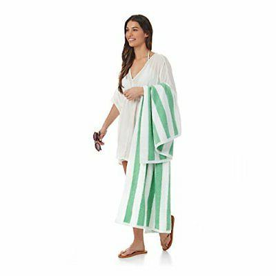 AmazonBasics - Cabana Stripe, Green, Pack of