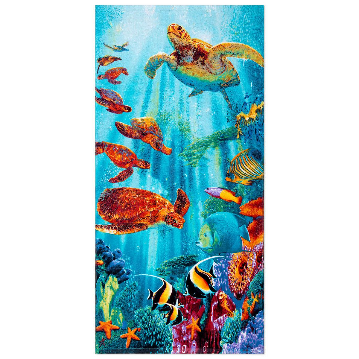 "Cotton Beach Towel 28""x58"" Quick Dry Absorbent for Pool Bath"