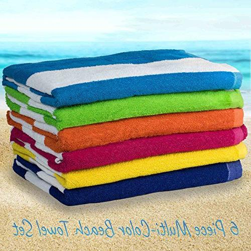 beach towels cabana hotel stripe