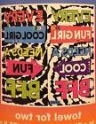 """BIG Justice """"BFF"""" beach towel for TWO vibrant designs & BFF"""