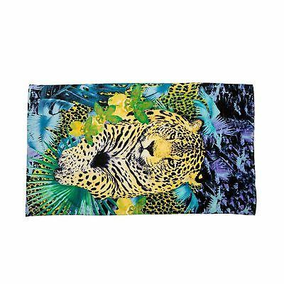 Just Cavalli Blue & Yellow Animal Print 100% Cotton Large Be