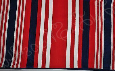 """Boat House Beach Towel red white blue stripes 36"""" x 70"""" Boat"""
