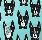 "BOSTON TERRIER Pool and Beach Towel 36"" x 68"" AQUA NWT BOUFF"