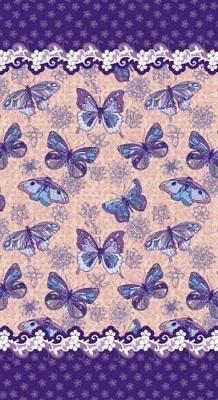 New Butterflies Velour Beach Towel, 40x72 inches Made in Bra
