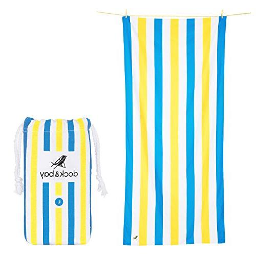 Dock Sand Free Beach Towel Set - of Extra Dry, Compact for Pool,