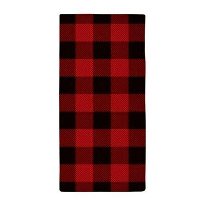 cottage buffalo plaid lumberjack beach towel 2012454959