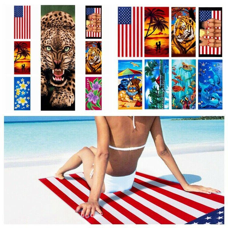 cotton beach towel 28 x58 quick fast