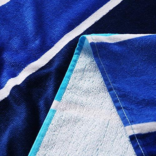 Beach Towel, Pool Towel Gradient Blue -Soft, Quick Lightweight, Absorbent, and Plush