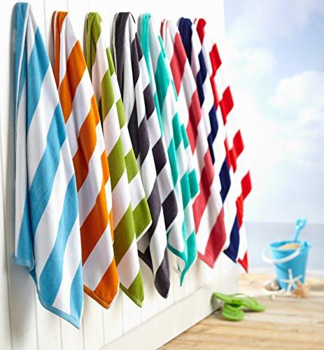 Great Home 100% Cotton Stripe Velour Towel Brand.