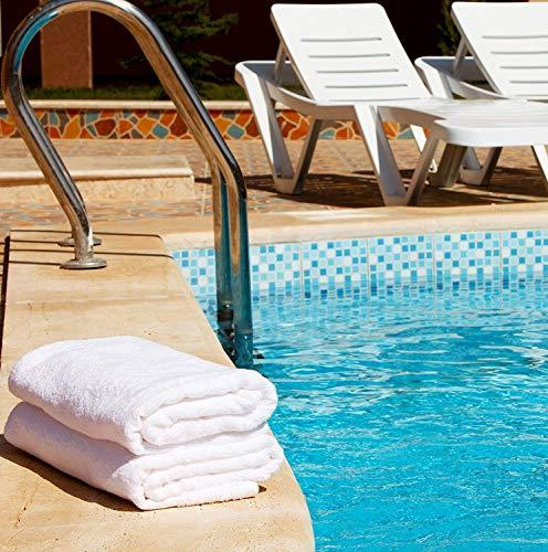 Utopia Towels 100% White Set Lightweight Absorbency, Quick Drying, Pool Towels Set